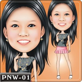PNW 女生Q畫風格 1~30